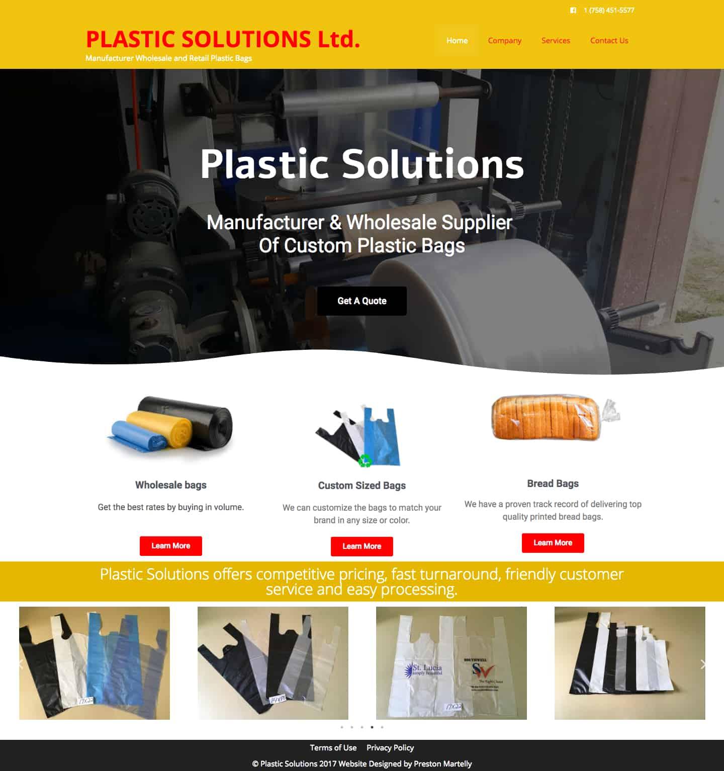 PLASTIC SOLUTIONS Ltd. – Manufacturer Wholesale and Retail Plastic Bags