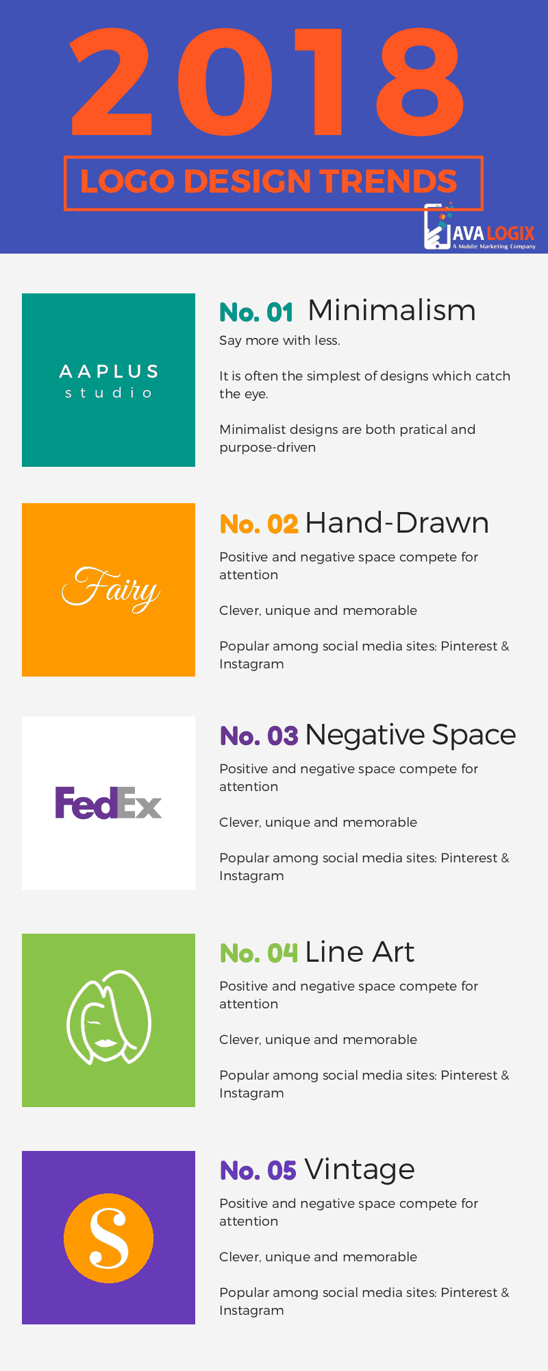 Logo design trends for 2018 infographic online - Mobel trends 2018 ...