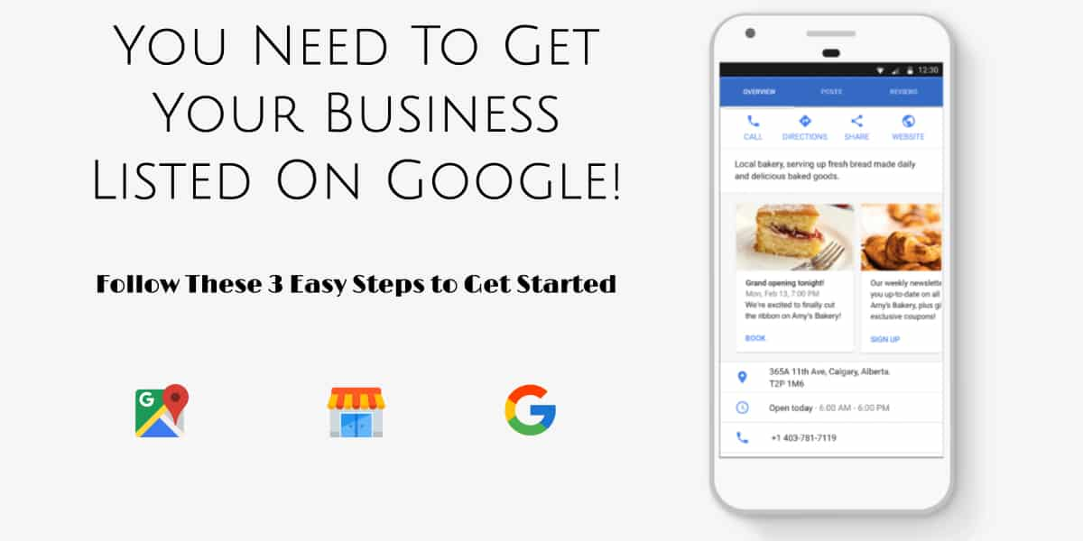 get listed on google