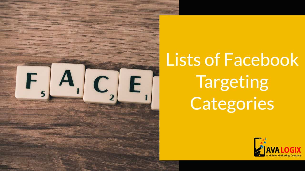 Lists of Facebook Targeting Categories
