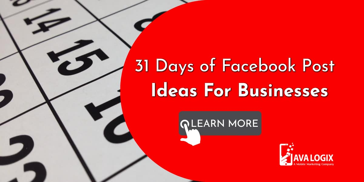 1-31 Days of Facebook Post Ideas For Businesses